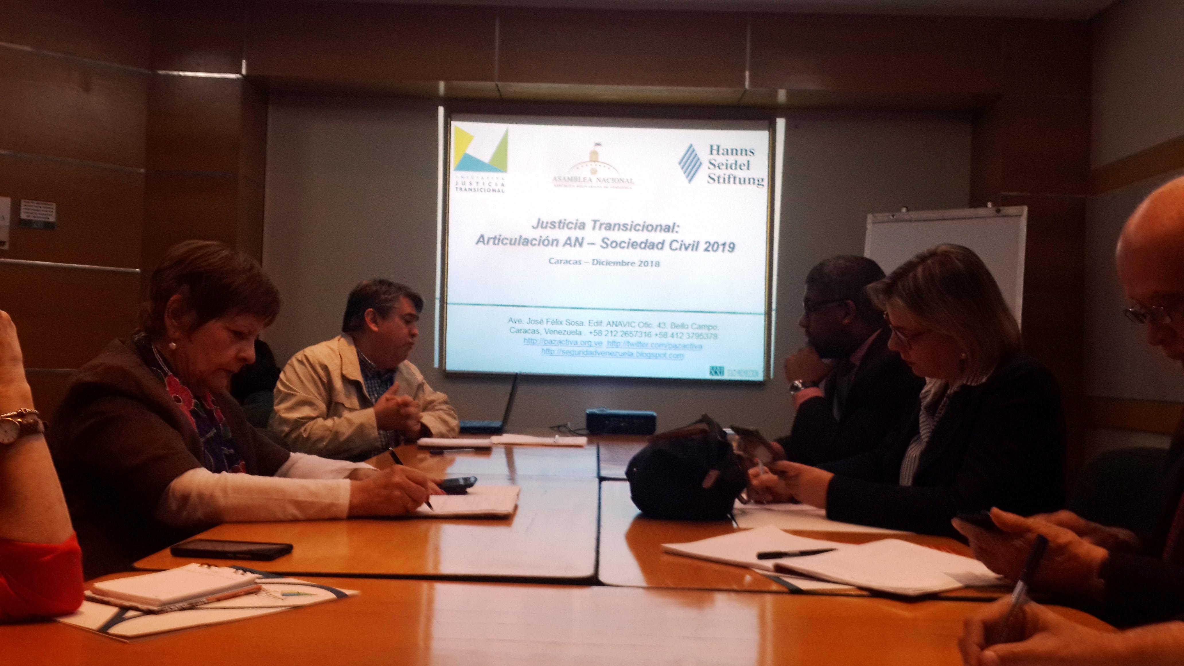 Asamblea Nacional Y Sociedad Civil Coordinan Accionespara Promover Un Proceso De Justicia Transicional En Venezuela