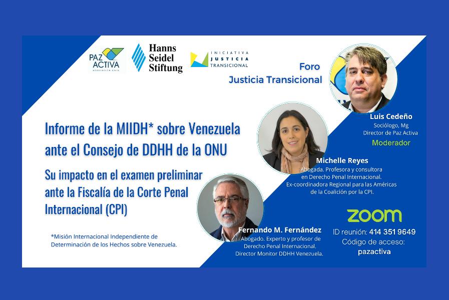 VÍDEO – El Informe De La MIIDH Sobre Venezuela Ante El Consejo De DDHH De ONU Y Su Impacto En El Examen Preliminar Ante La Fiscalía De La CPI