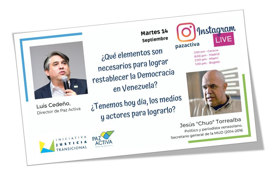 Vídeo LIVE Instagram > El Restablecimiento De La Democracia, Actores Y Medios Para Lograrlo